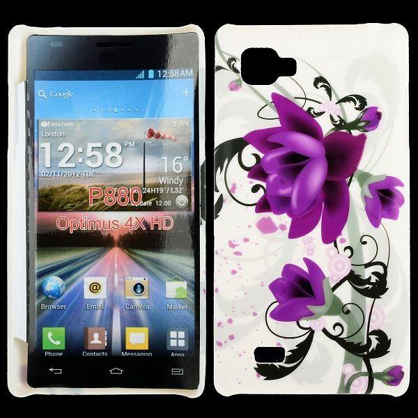 Valentine (Kaksi Violettia Kukkaa) LG Optimus 4X HD Suojakuori