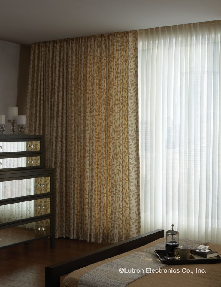 Lutron Sivoia QS Wireless Traditional drapery system is a track system  providing a wide range of options to meet drapery needs.