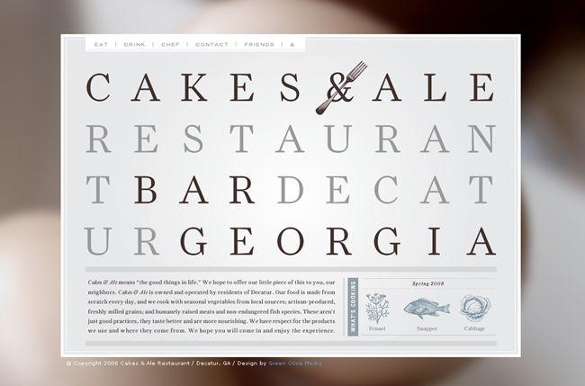 Web design for Cakes & Ale by Alvin Diec | alvindiec.com