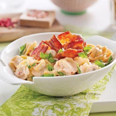 Tortellinis sauce crémeuse au pesto de tomates séchées - Recettes - Cuisine et nutrition - Pratico Pratique