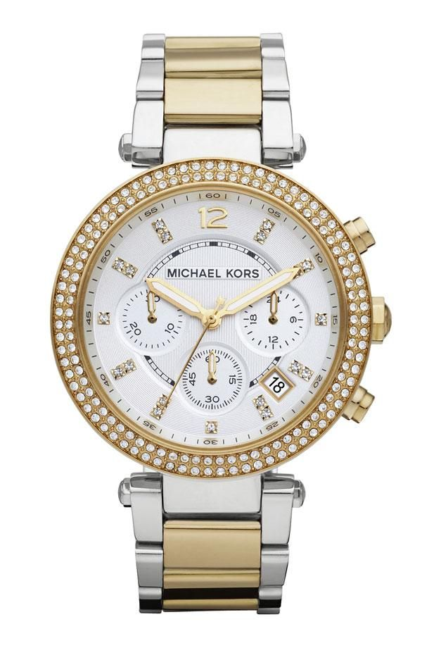 Be on time in style. Michael Kors gold and crystal watch. ra-april@bk.ru