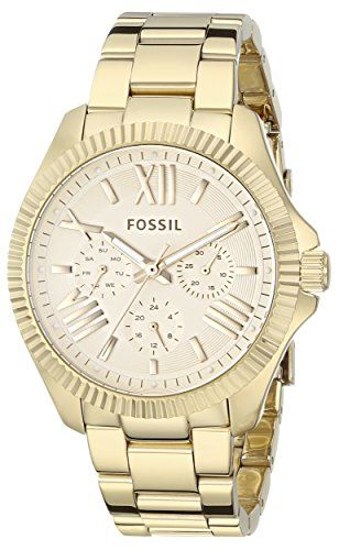 Fossil Womens AM4570 Cecile Gold-Tone Stainless Steel Watch