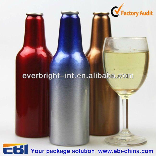12 oz aluminum empty beer bottle