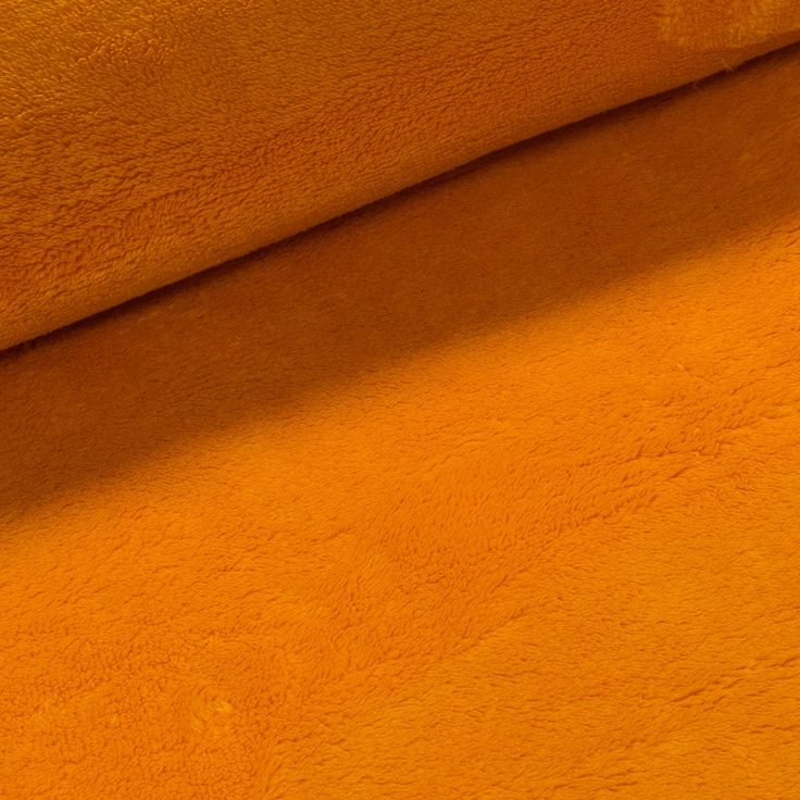 Mikroplyš / coral fleece 673 jednobarevná pomerančově oranžová, š.175cm (látka v metráži) | Internetový obchod Chci Látky.cz