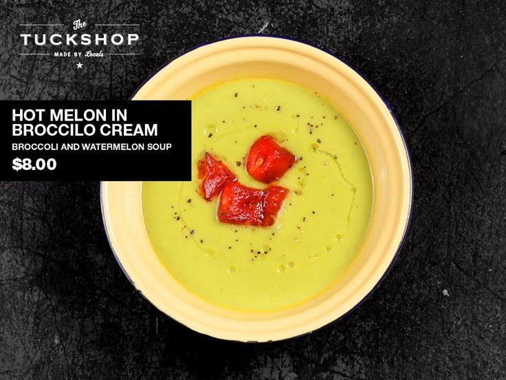 Hot Melon in Broccoli Cream  Broccoli & Watermelon soup