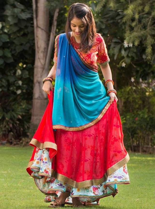 Designer ghagra choli for this Navratri...