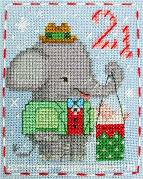 Ethan Elephant, #21 of the Brooke's Books Advent Animals Freebies Collection by Brooke Nolan https://www.etsy.com/shop/BrookesBooksStore http://www.craftsy.com/user/1333992/pattern-store?_ct=fhevybu-ikrdql-fqjjuhdijehu  http://www.brookesbooks.com/CrossStitchFreebies2.html