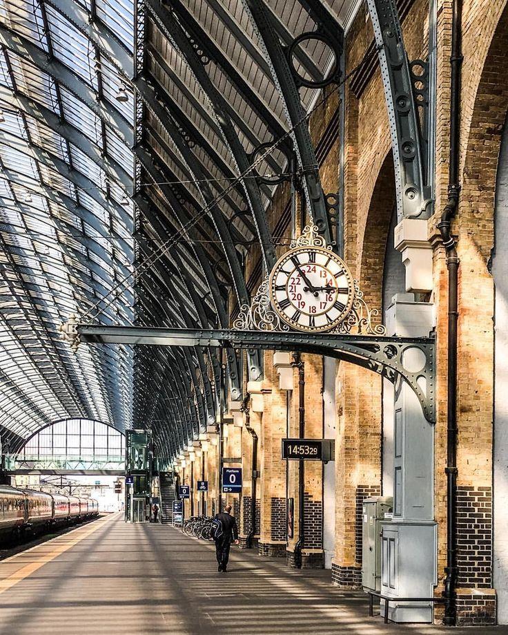 King's Cross train station, London.-