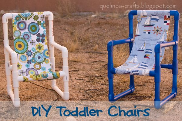 DIY Toddler Chairs Made out of PVC Pipe - Chairs, PVC Pipe, Recycle, Toddler