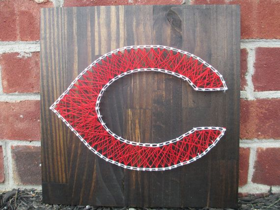 Cincinnati Reds String Art, Wall Hanging, Wall Decor on Etsy, $40.00