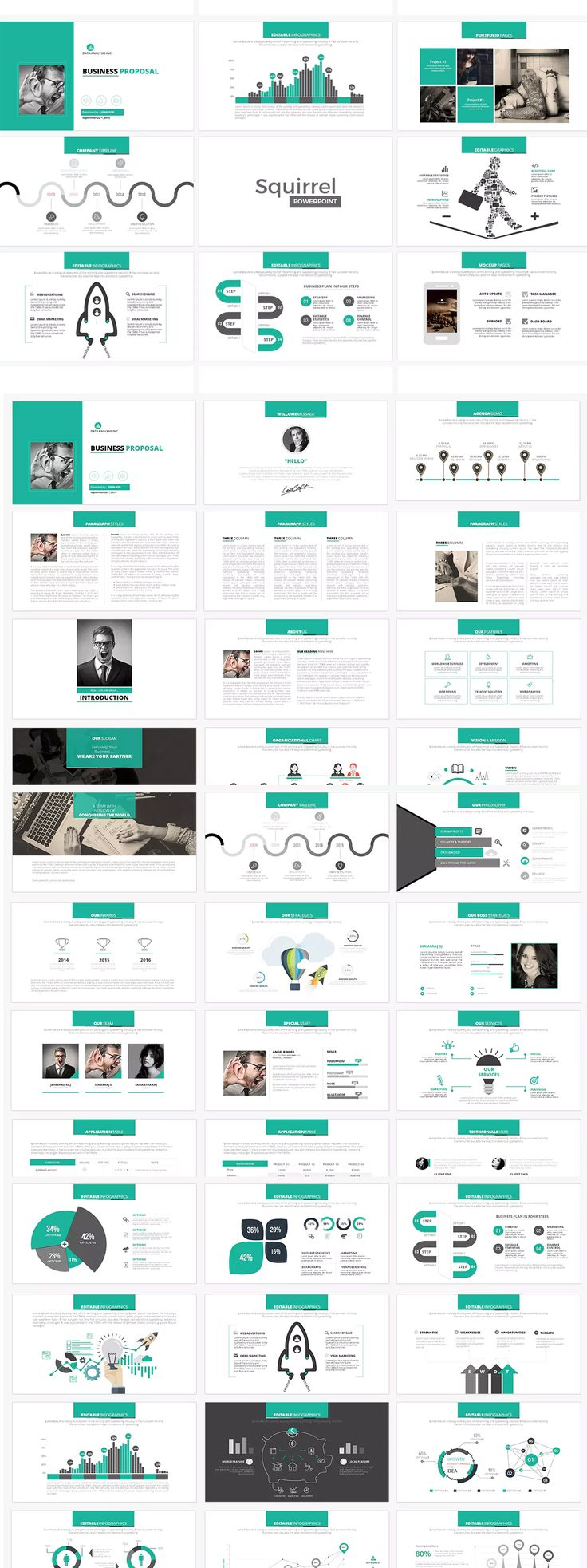 230 best powerpoint presentation templates images on pinterest squirrel powerpoint presentation template pronofoot35fo Image collections