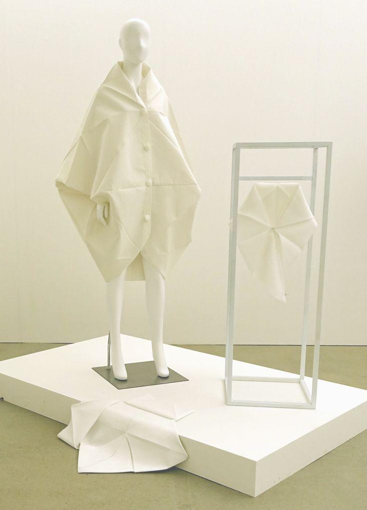 Rectangle_Re Angle, Zero Waste fashion, transformable design,Sookhyun Kim,김숙현,coat and scarf