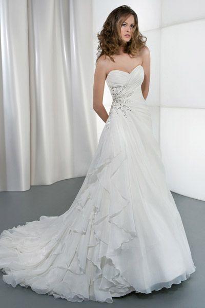 30 Beach Wedding Gowns - Illusions by Demetrios