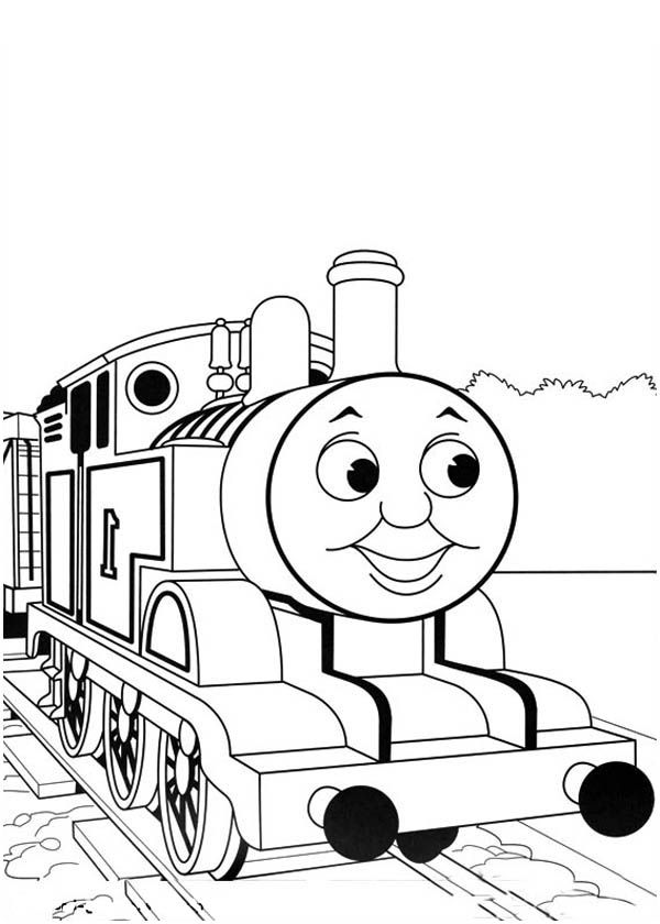 Thomas And Friends Coloring Pages Heading To Station Train Coloring Pages Monster Truck Coloring Pages Birthday Coloring Pages