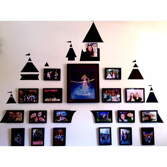 castle frame set by alittlepixiedustco on etsy - Disney Photo Frames