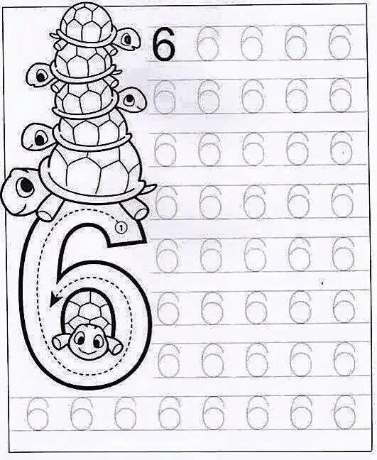 Düz Yazı Sayılar Çizgi Çalışmaları - Okul Öncesi Etkinlik Faaliyetleri - Madamteacher.com
