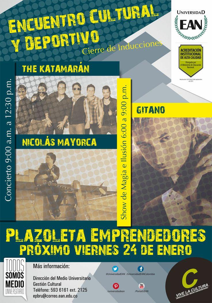 Mañana encuentro cultural y deportivo en la Plazoleta #Emprendedores.
