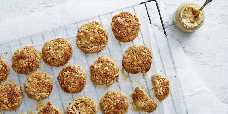 Bacon   Peanut Butter Cookies via @iquitsugar