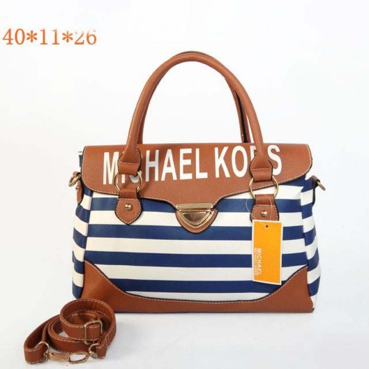 MICHAEL Michael Kors Medium Striped Travel Satchel