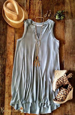 Siouxsie Dress - Gray – Bungalow 123