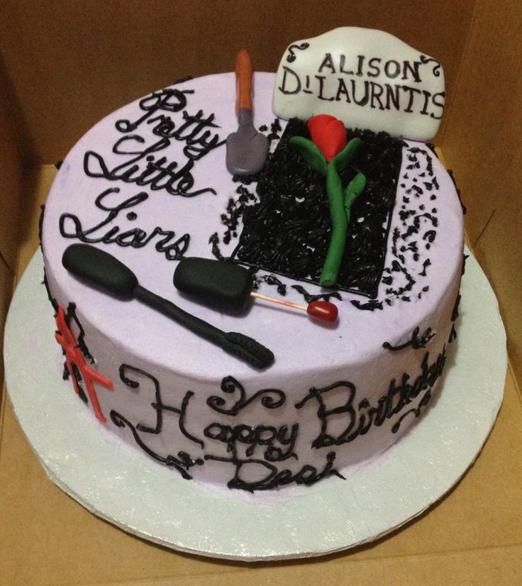 Images Of Pretty Birthday Cake : Pretty Little Liars Cake!! Holidays Pinterest The o ...