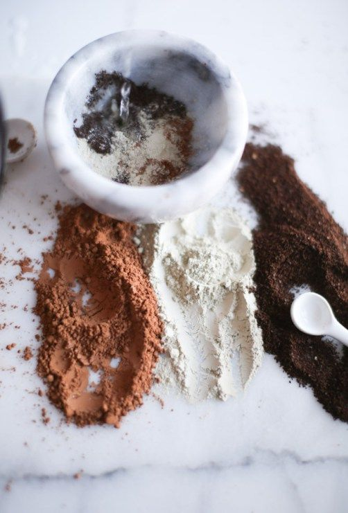 Homemade Mud Mask Recipe with Cocoa, Coffee + Clay