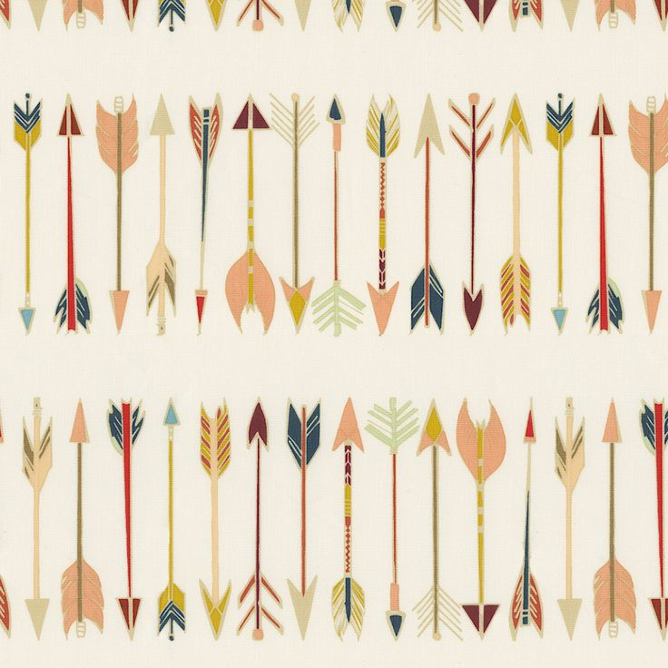Tribal Arrows Fabric by the Yard | Carousel Designs.  Tribal Arrows features an array of multi-color arrows. Perfect for creating a southwestern look for your nursery. The soft 100% quilting weight cotton adds to its appeal.