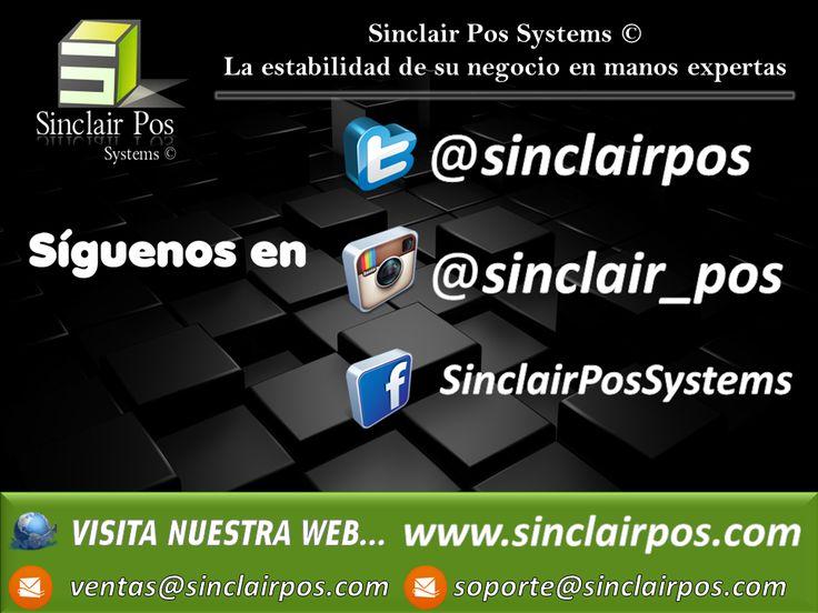 Síguenos a través de nuestras redes sociales y entérate de todo lo que Sinclair Pos Systems © tiene para tu empresa, características, soporte, respaldo, compatibilidad con respuestas oportunas y acorde a las necesidades de tu empresa, no busques más, tenemos el sistema que se ajusta a tu presupuesto y que tu empresa necesita, soluciones escalables, crecemos al ritmo de tu empresa.  _________________________  Visítanos en : www.sinclairpos.com  Correos : ventas@sinclairpos.com…