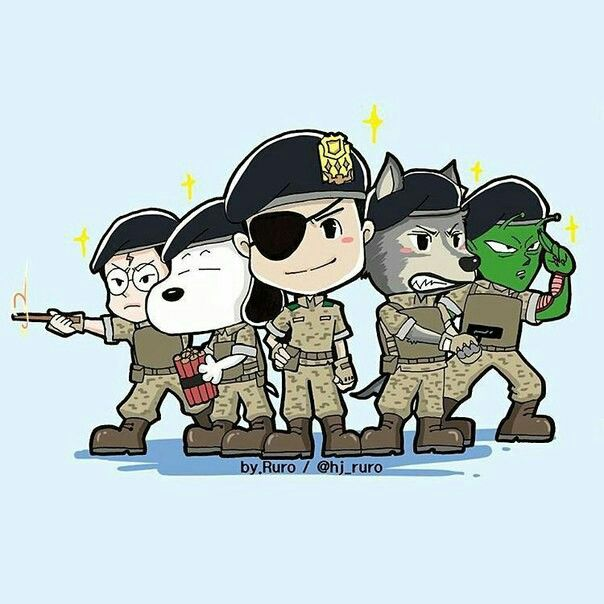 Descendants of the Sun fanart Big Boss, Wolf, Piccolo, Snoopy and Harry Potter - the Alpha Team
