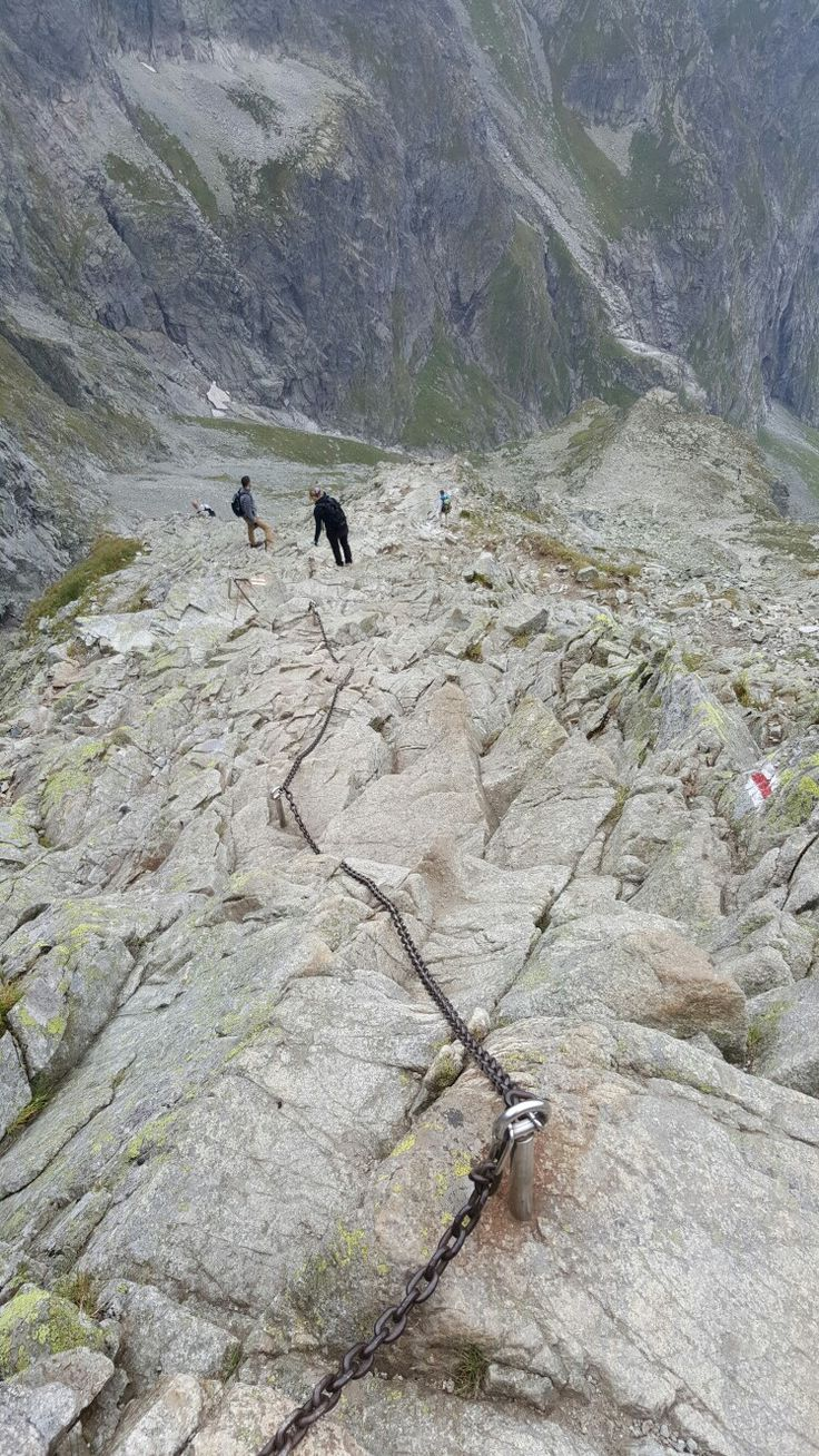 Crazy but doable climb up the face of Tatra mountain to get to Rysy peak. Highest peak in Poland.