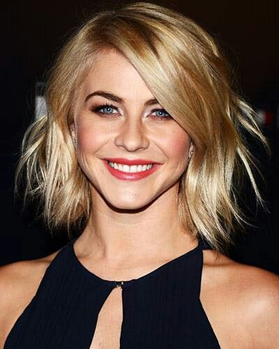Looking for a change? Cut it out.. ;-) Try this fun wavy bob cut seen here on Julliane Hough. If I spelled that right? Lol..
