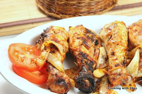 Tandoori Chicken with Homemade Yogurt Marinade – Baked or Grilled   Cooking with Thas