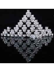 Gorgeous Alloy and Rhinestiones Wedding Bridal Tiara/Combs