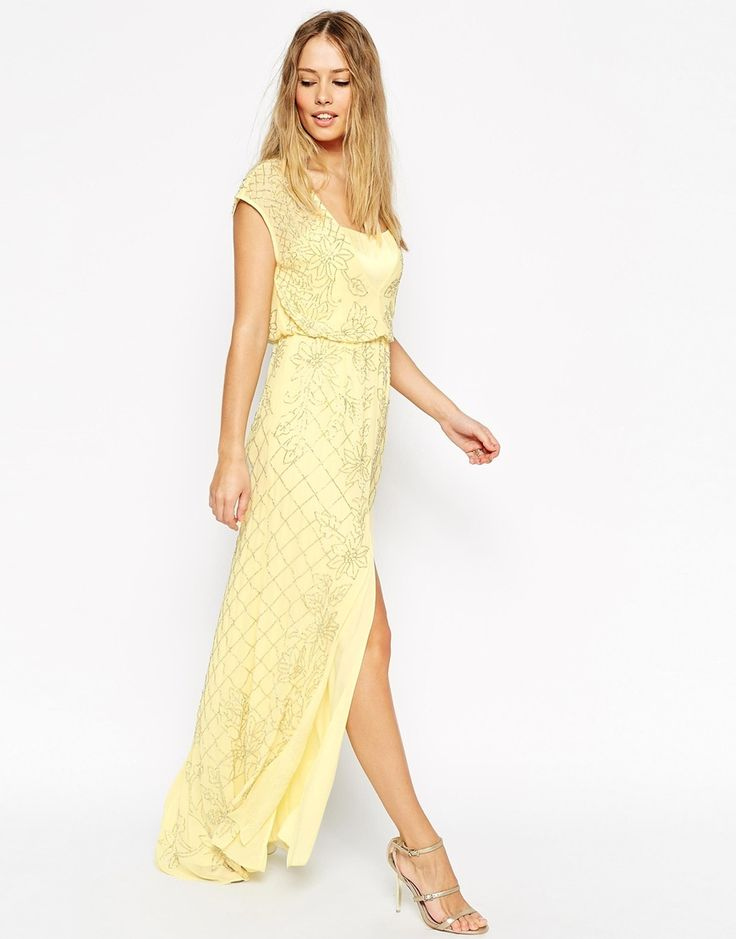 43 best yellow dresses images on pinterest yellow dress for Yellow maxi dress for wedding
