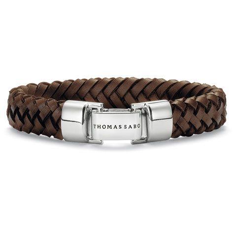 Brown Leather Bracelet w - Folding Silver Clasp