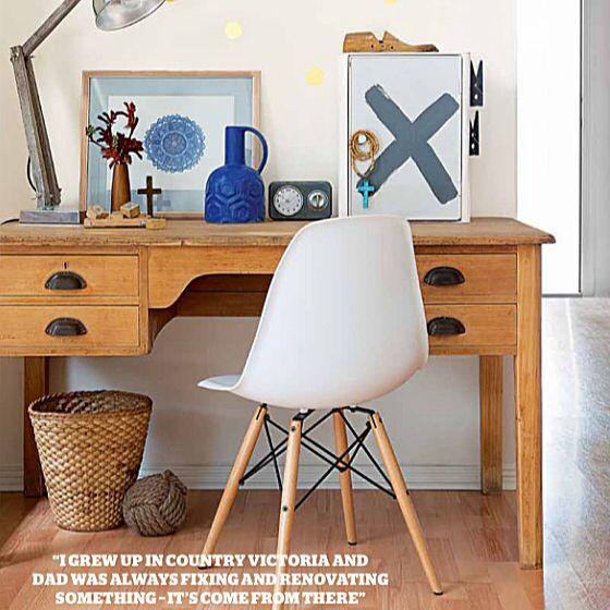 Desk ideas  Desk styling  Insideout magazine  Megan Boseley