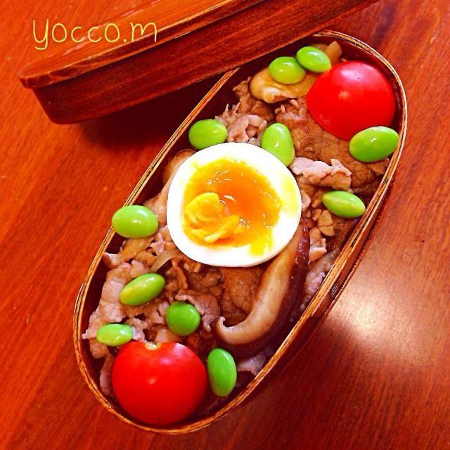 ☆すき焼き丼 - 33件のもぐもぐ - すき焼き丼弁当☆1030 by sunny1124yoko