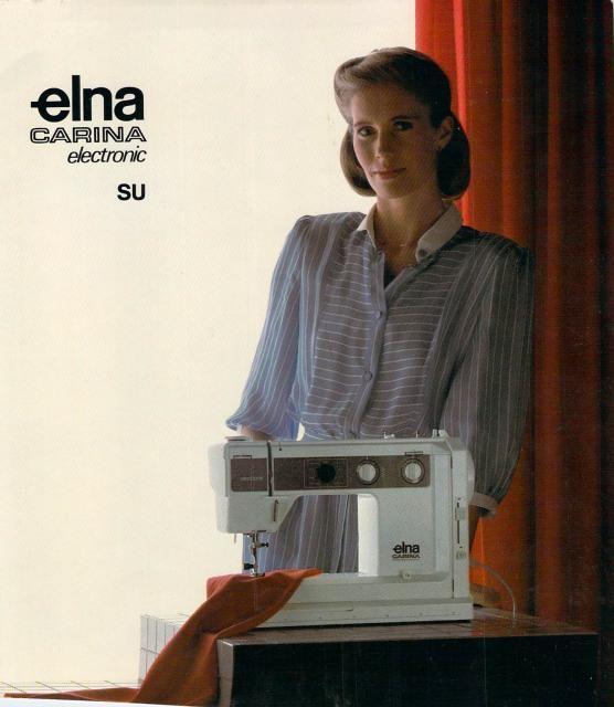 Elna Carina Electronic SU Sewing Machine Manual Sewing Machine Magnificent Elna Carina Sewing Machine