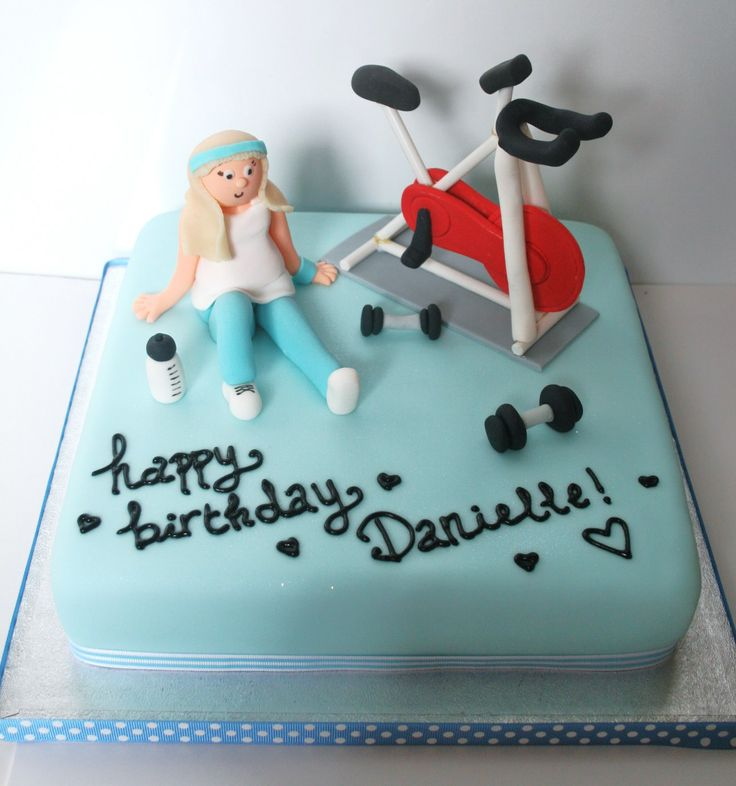Baby shower cakes baby shower cupcake cake ideas boy - Gym Themed Cake With A Spinning Bike Cycle In