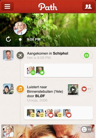 Één van onze favoriete iPhone apps: Path