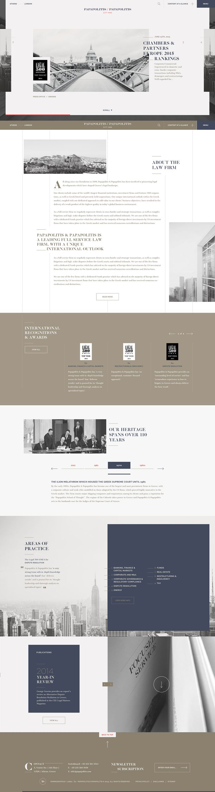 Website Design And Development For Papapolitis - Papapolitis By Kommigraphics