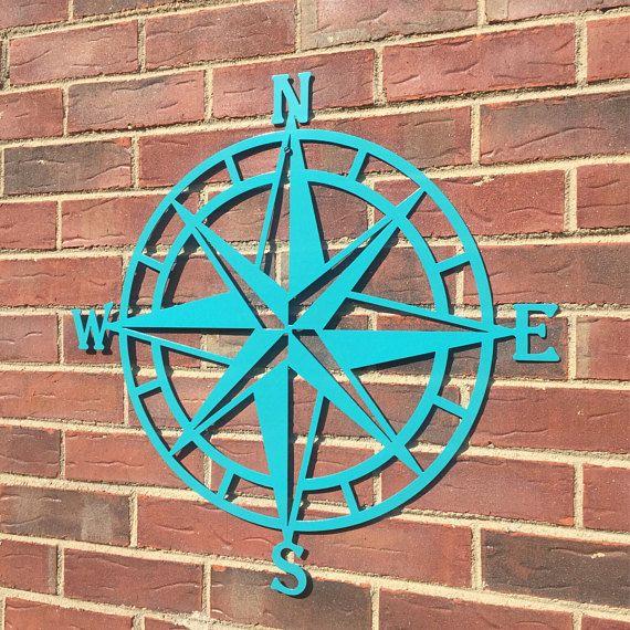 Steel Nautical Star Compass Wall Art Nautical Decor Metal Wall
