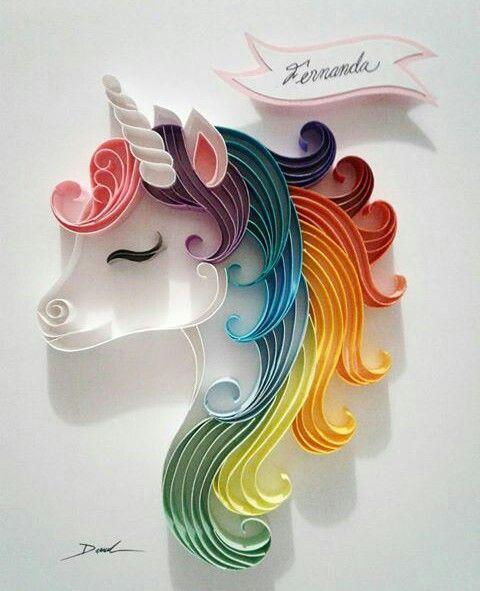 #unicornio #arcoiris #rainbow #filigrana #quilling #danart