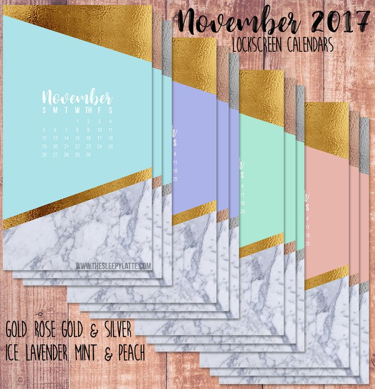 November 2017 lock screen calendars! Can you believe 2017 is almost over?