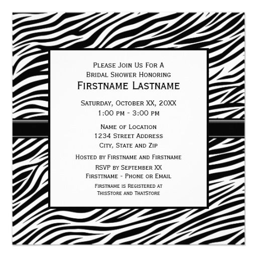179 best zebra print birthday ideas images on pinterest | birthday, Birthday invitations