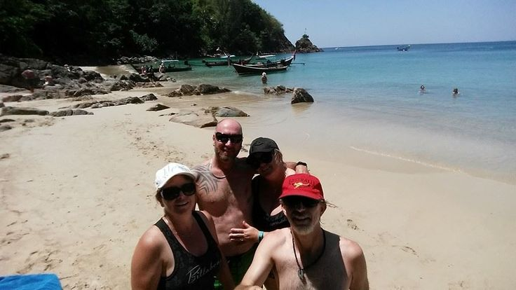 A lovely secluded beach in Phuket, Thailand. February 2015