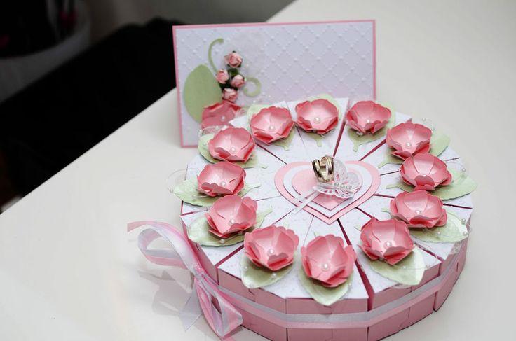 Geldgeschenk zur Hochzeit Hochzeitstorte oder Geschenkverpackung +Hochzeitskarte