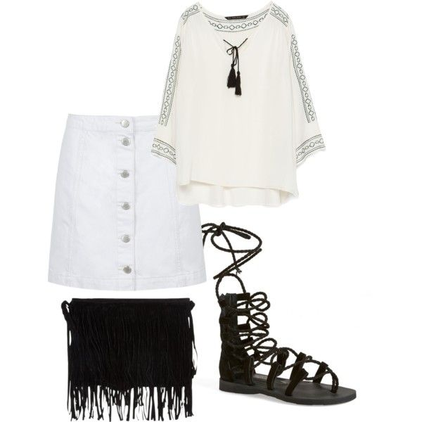 bw by paluna on Polyvore featuring polyvore fashion style Zara Topshop Jeffrey Campbell