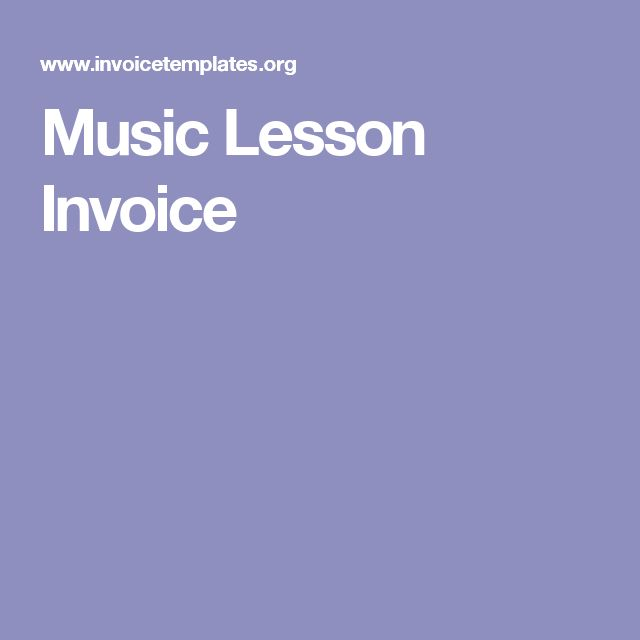 Music Lesson Invoice Music Lessons Piano Teaching Resources Piano Teaching