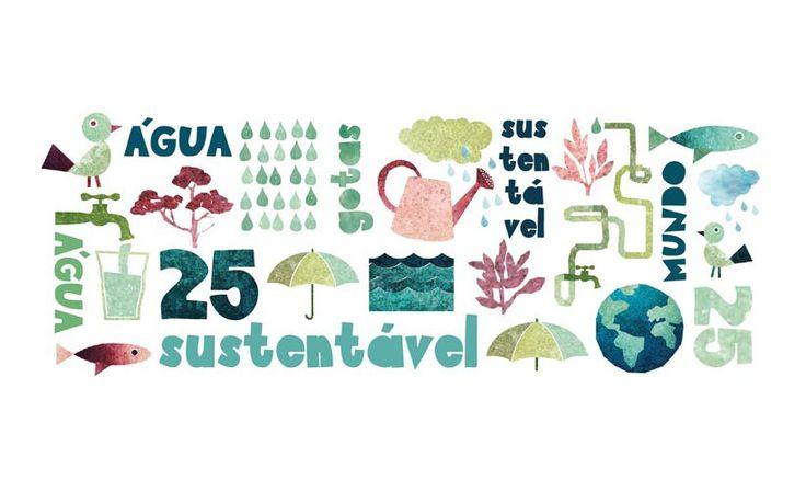 Water / Editorial and illustration  25 Gotas para um Mundo Sustentável